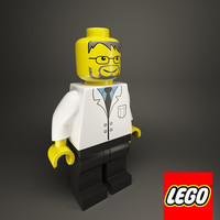 Lego man scientist