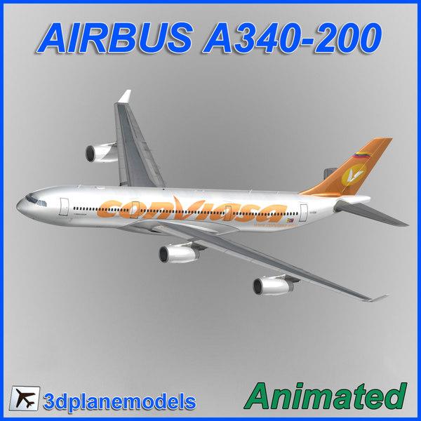 airbus a340-200 3d max