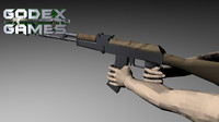 3d model animation ak-47m