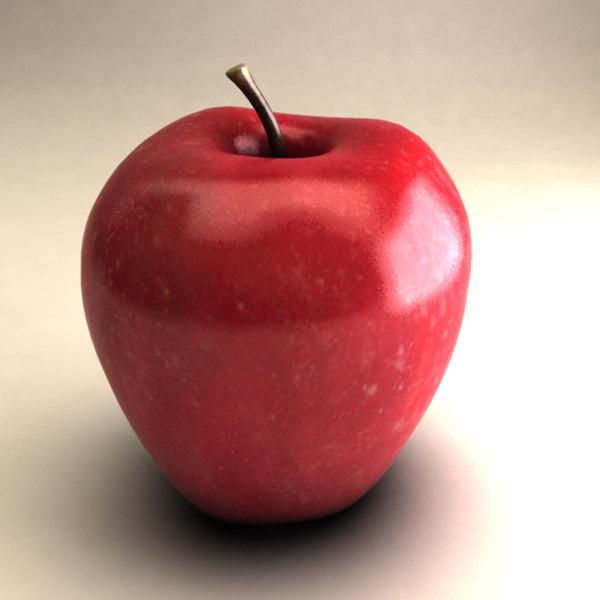 3d model of fruit apple