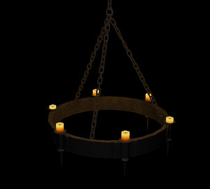 3ds max medieval chandelier lights