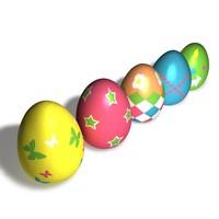 3d 5 easter eggs model