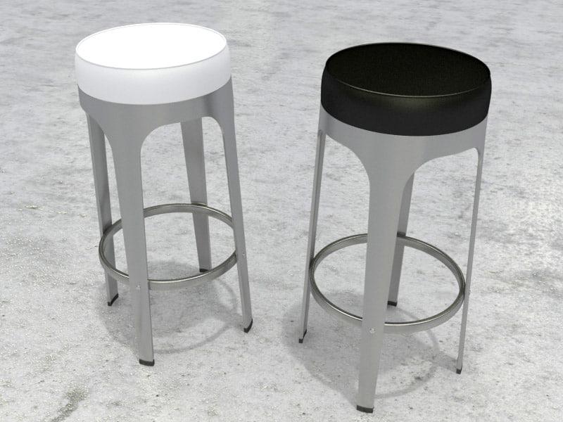 3ds max bar stool lapalma leo