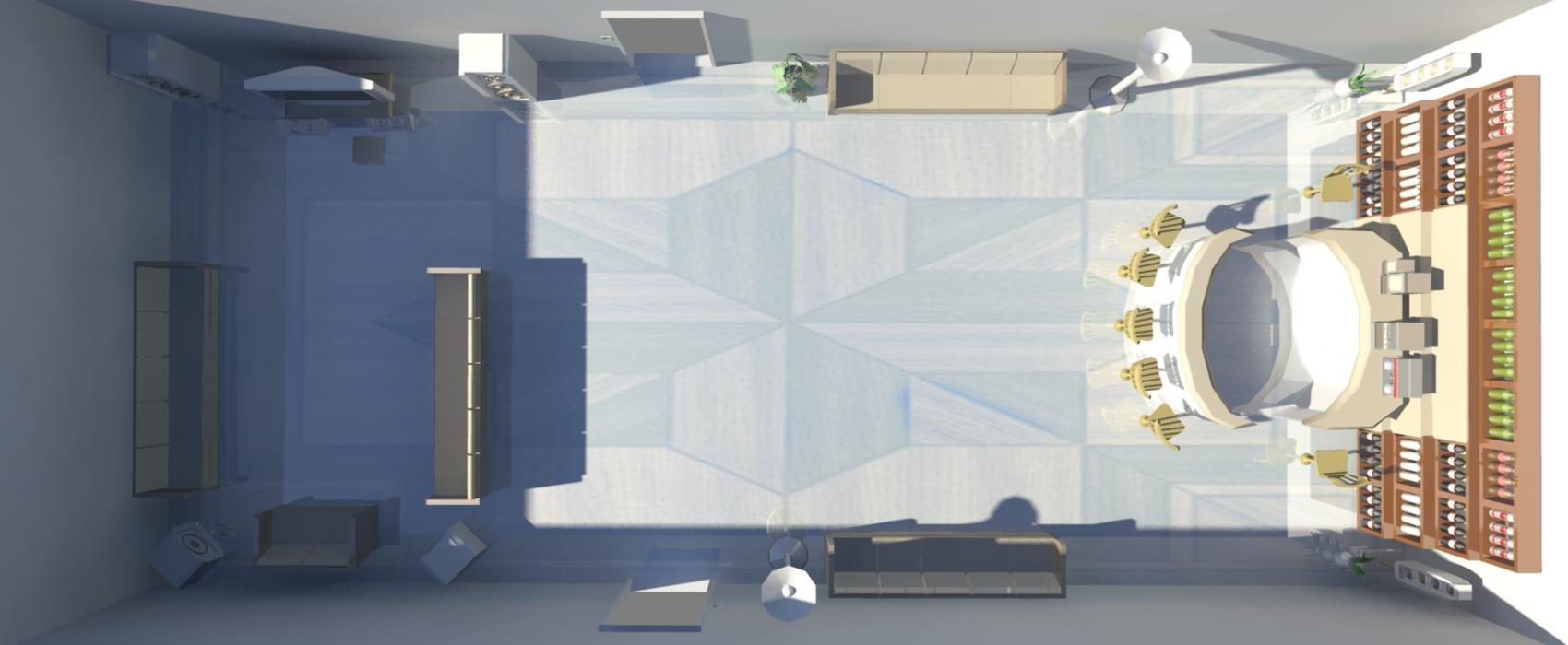 3d model living room -