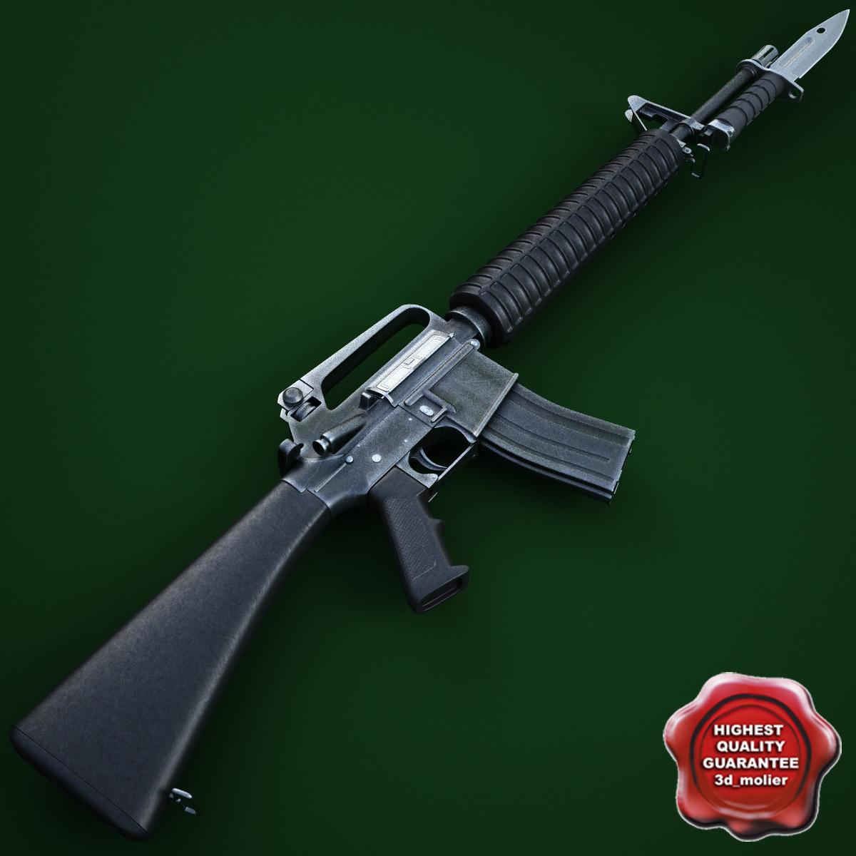 3ds m16a2 assault rifle m9
