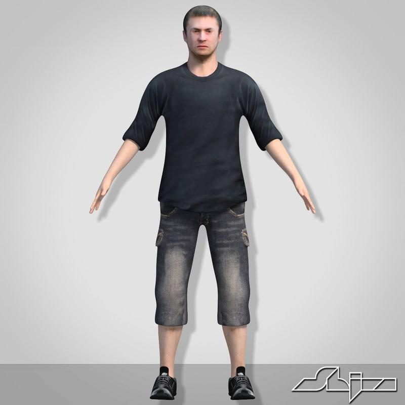 male man boy 3d model