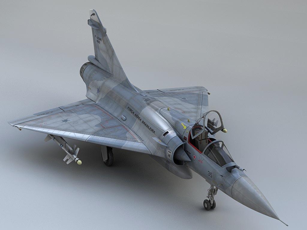 3d mirage 2000 plane model