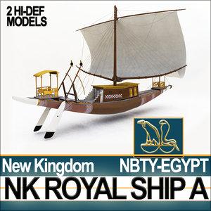 ancient egyptian new kingdom 3d obj