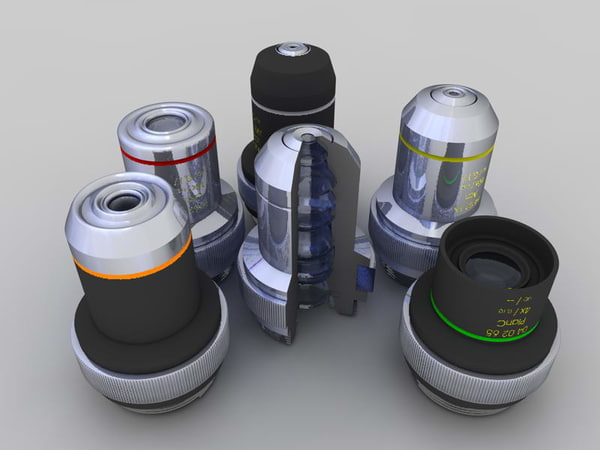 microscope objectives 3d model
