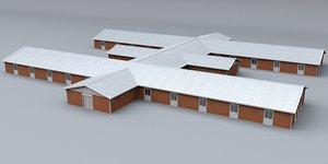 3d model prefabricated building