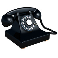 3ds max old rotary telephone