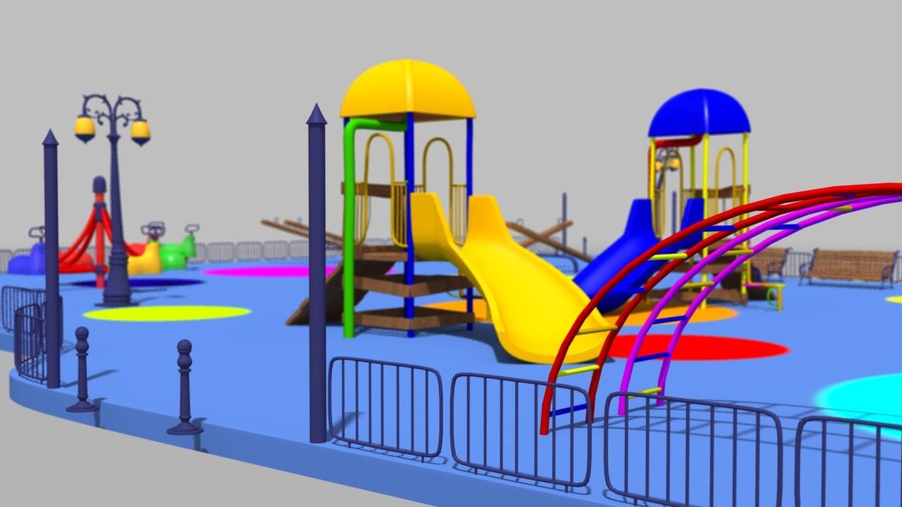 cartoony children playground x