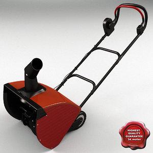 3d model snow blower ste 22040