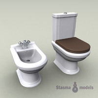 3d model of wc lavatory bathroom