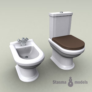 3d model of wc lavatory bathroom