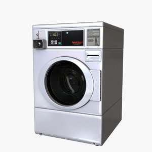 3d model commercial washing machine