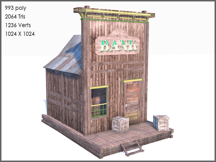 western bank 3d max