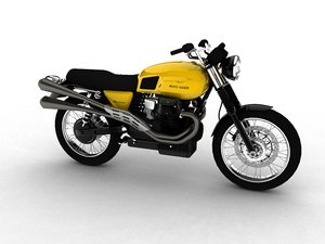 moto guzzi v7 scrambler 3d 3ds