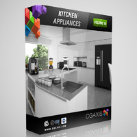 3ds max volume 10 kitchen appliances
