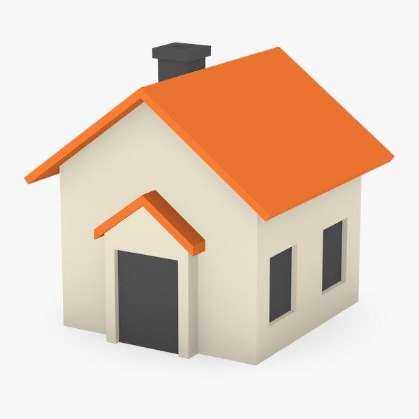 Maya simple cartoon house for Minimalist house 3d model