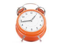 free retro clock 3d model