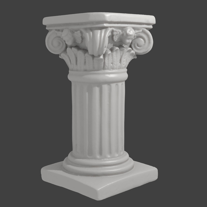 Elegant 3ds Max Accurate Scan Decorative Column