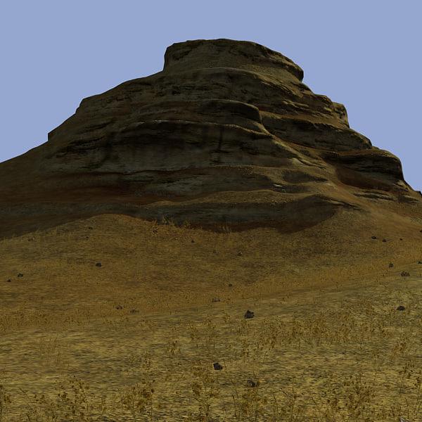 eroded mountains landscape 3d max