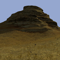 eroded mountains landscape 3d max
