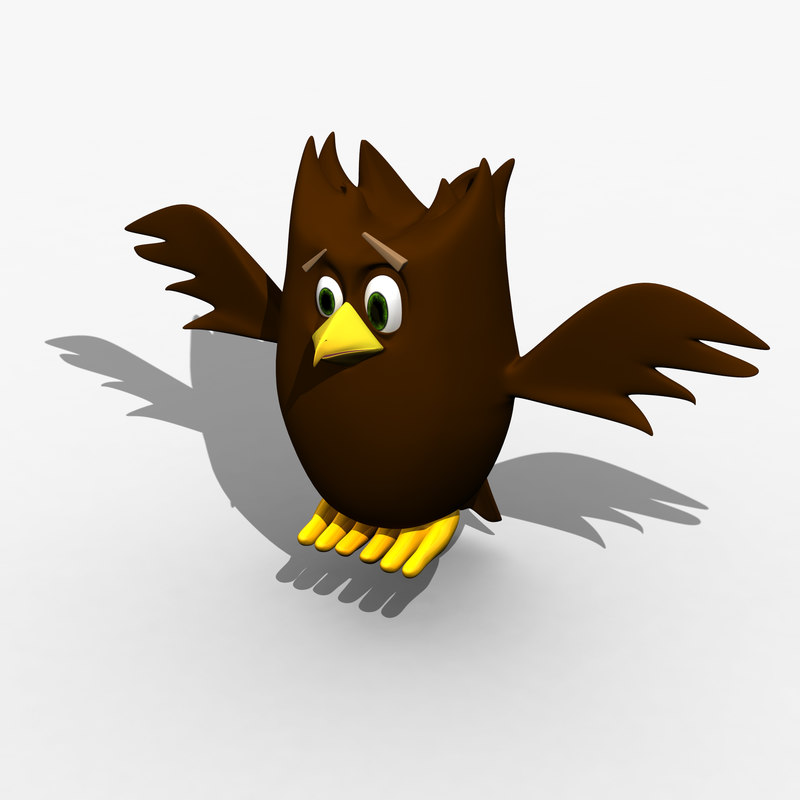 3d feathers owl
