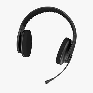 3d model headphones microphone