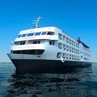 cruise ship 3d model