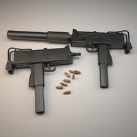 3ds max submachine gun ingram mac