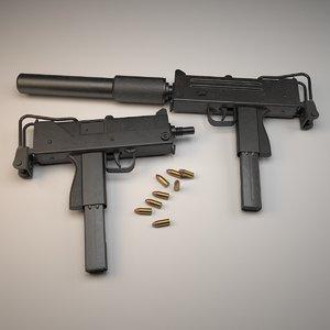 3ds max submachine gun ingram mac