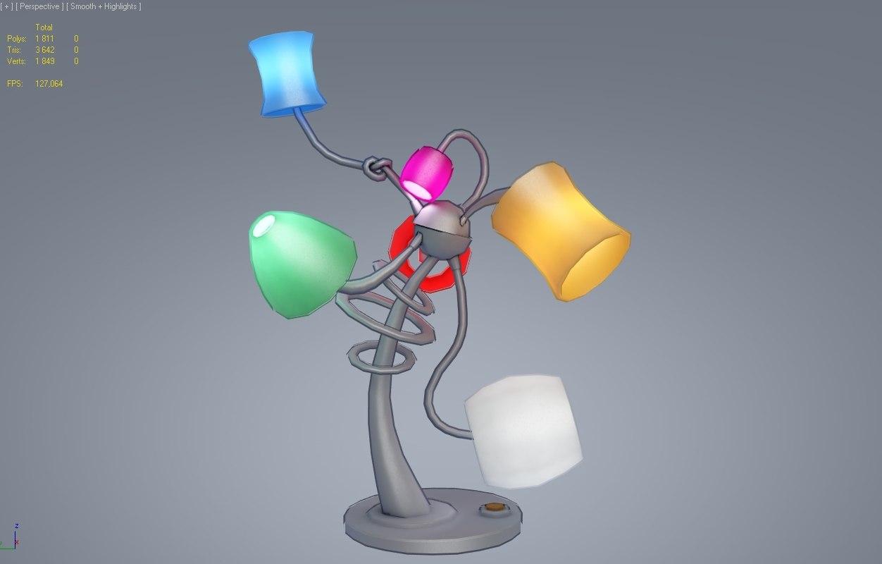 toon lamp 3d model
