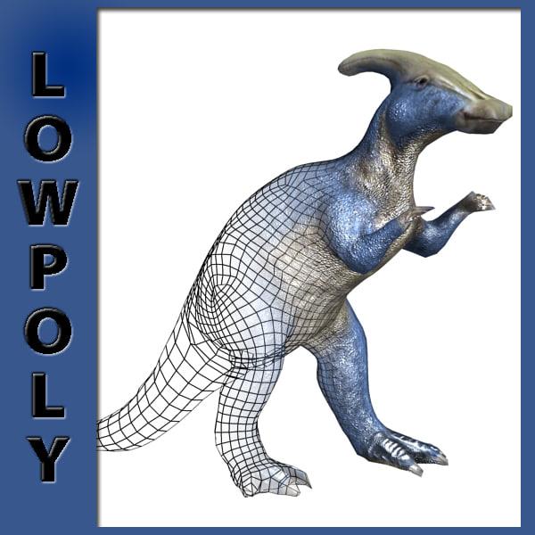 parasaurophus ready 3d max