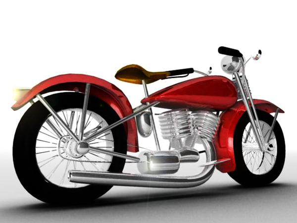 maya cartoon motocycle