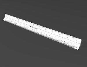 engineer scale ruler 3d model