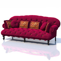 Provasi Paris Classic tufted buttoned sofa luxury pillows baroque upholstered
