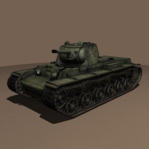 3dsmax soviet kv-1 tank 1942