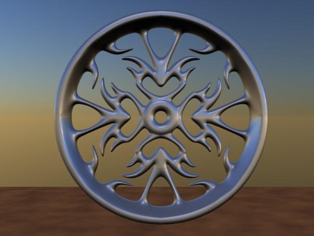 free wheels rims 3d model