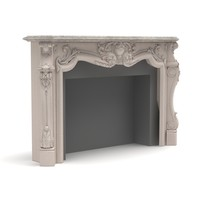 3d obj fireplace modelled 2009
