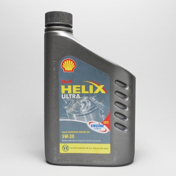 shell helix ultra vx 3d model