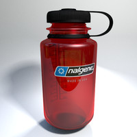 nalgene water bottle 3d model