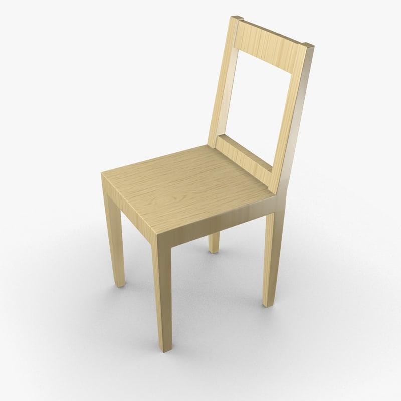maya scandinavian wooden chair