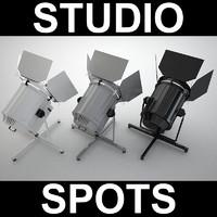 3d spotlight spot model