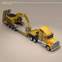 truck stepframe excavator dxf