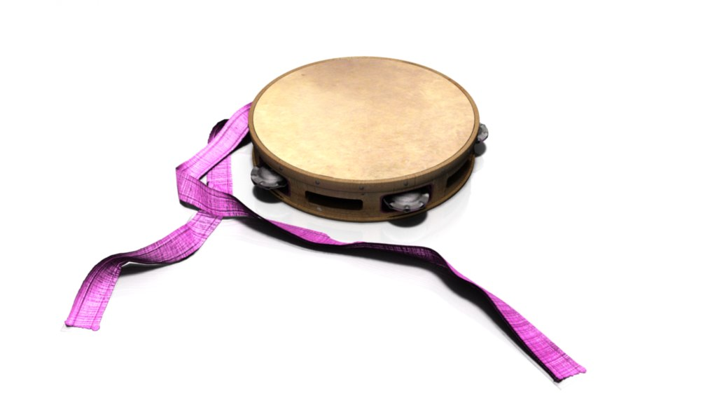 tambourine 3d obj