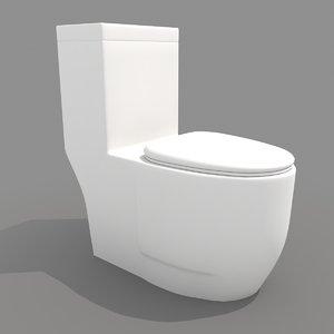 modern toilet 3d model