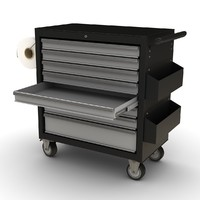 3d model of tools trolley