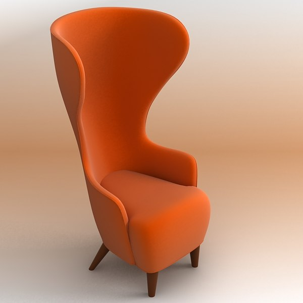 wing chair 3d model